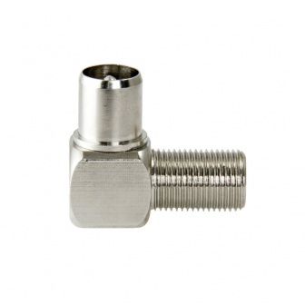 Coax verloopplug F-Connector female naar IEC Male