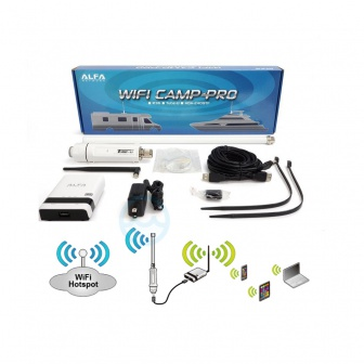 Wifi voor camper en caravan - Camp-Pro WiFi Set incl. Antenne en Router