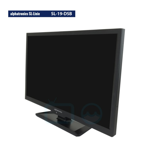 alphatronics sl 19 dsb 12 volt led camper tv 19 inch met. Black Bedroom Furniture Sets. Home Design Ideas