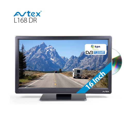 avtex tv l168dr 12 volt 16 inch met dvb t t2 en dvd. Black Bedroom Furniture Sets. Home Design Ideas