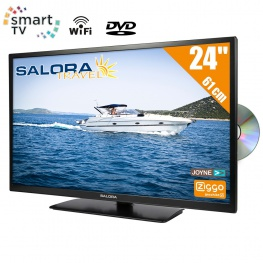 Salora Travel 12 volt 24 inch HD SMART TV met Wifi en DVD-Speler DVB-T2-S2-C