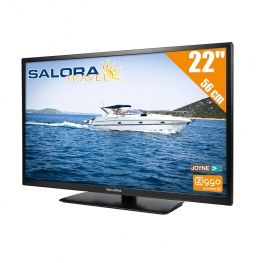 Salora Travel 12 volt LED HD TV 22 Inch met DVB-T/T2 en DVB-S/S2 Tuner / FastScan