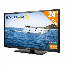 Salora Travel 12 volt HD LED TV 24 Inch met DVB-T2 en DVB-S2 Tuner / FastScan